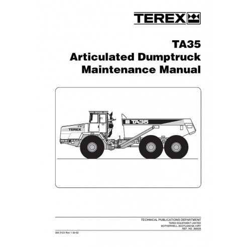 Maintenance manual for Terex TA35 articulated truck, PDF-Terex