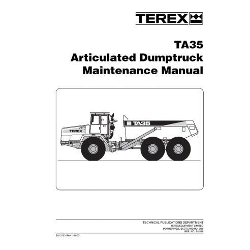 Terex TA35 articulated truck maintenance manual - Terex manuals