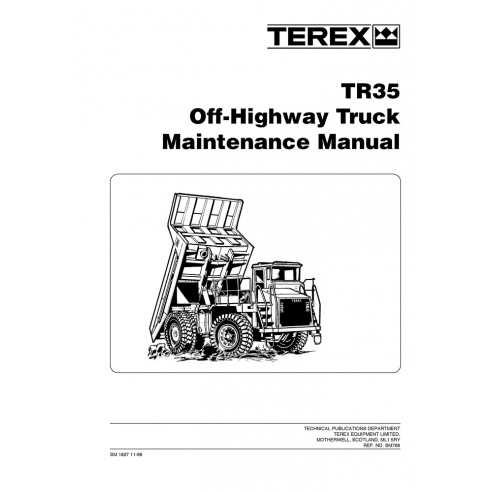 Maintenance manual for Terex TR35 off-highway truck, PDF-Terex
