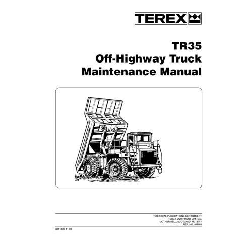 Terex TR35 off-highway truck maintenance manual - Terex manuals