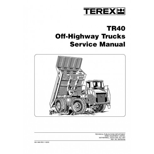 Service manual for Terex TR40 off-highway truck, PDF-Terex