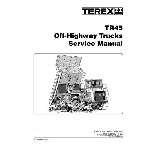 Manual de servicio del camión todoterreno Terex TR45 - Terex manuales