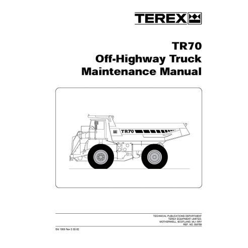 Terex TR70 off-highway truck maintenance manual - Terex manuals