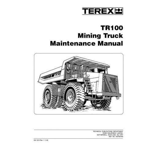 Maintenance manual for Terex TR100 mining truck, PDF-Terex