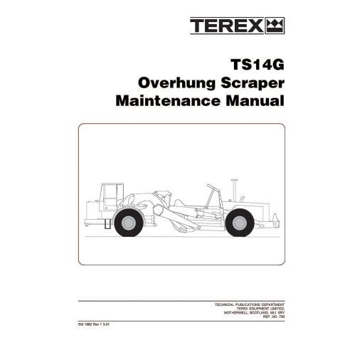 Manual de mantenimiento del raspador Terex TS14G - Terex manuales