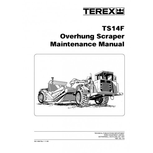 Manual de mantenimiento del raspador Terex TS14F - Terex manuales