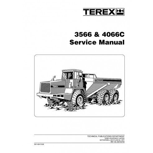 Service manual for Terex 3566, 4066C articulated truck, PDF-Terex