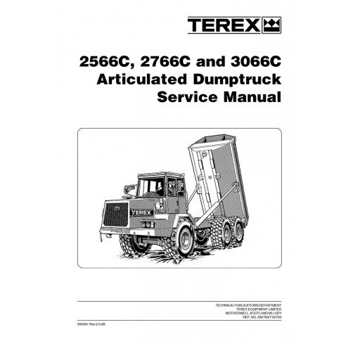 Service manual for Terex 2566C, 2766C, 3066C articulated truck, PDF-Terex