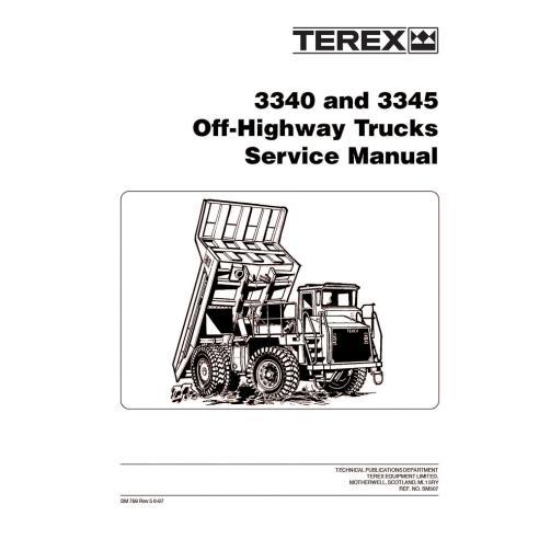 Manual de servicio para camiones todo terreno Terex 3340, 3345 - Terex manuales