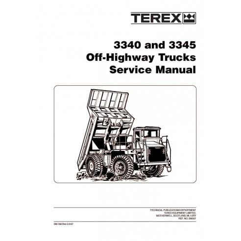 Service manual for Terex 3340, 3345 off-highway truck, PDF-Terex
