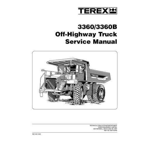 Manual de servicio para camiones todo terreno Terex 3360, 3360B - Terex manuales