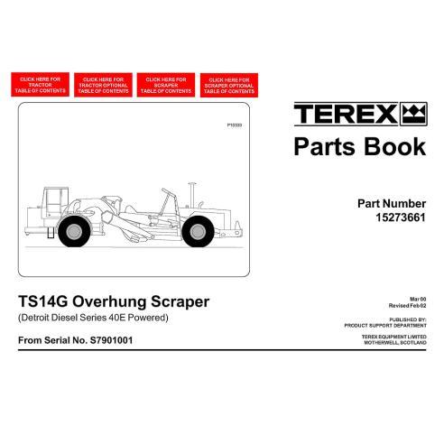 Terex TS14G scraper parts book - Terex manuals