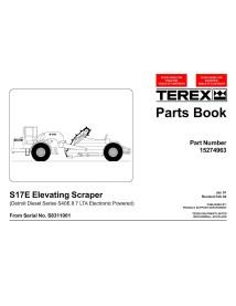 Terex S17E scraper parts book - Terex manuals