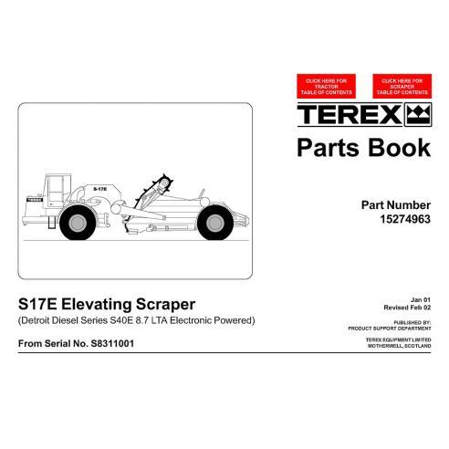 Parts book for Terex S17E scraper, PDF-Terex