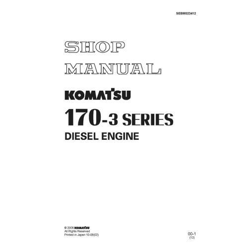 Shop manual for Komatsu 170-3 Series engine, PDF-Komatsu
