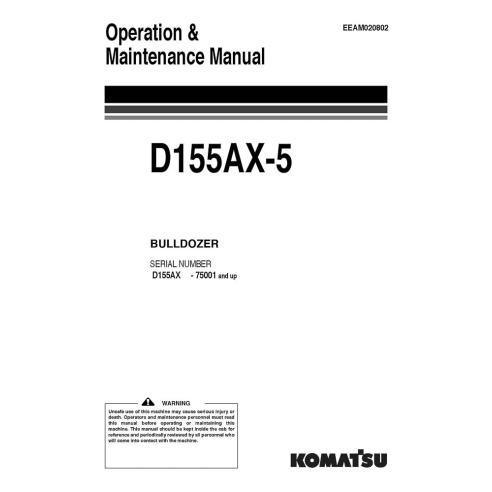 Manuel d'utilisation et d'entretien du bulldozer Komatsu D155AX-5 - Komatsu manuels