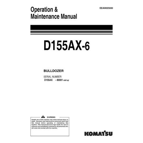 Komatsu D155AX-5 dozer operation & maintenance manual - Komatsu manuals