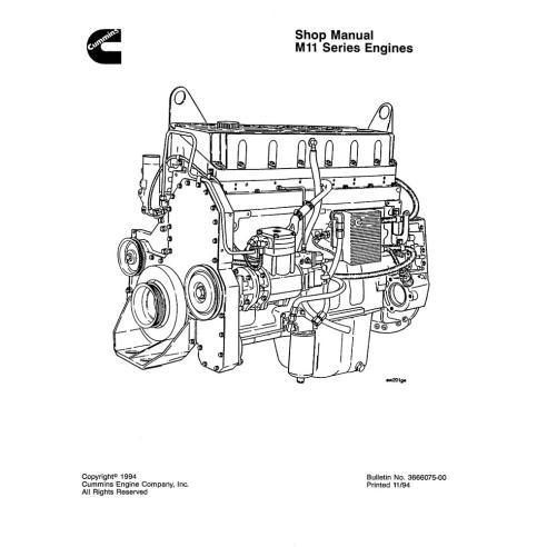 Manual de oficina do motor Komatsu M11 Series - Komatsu manuais