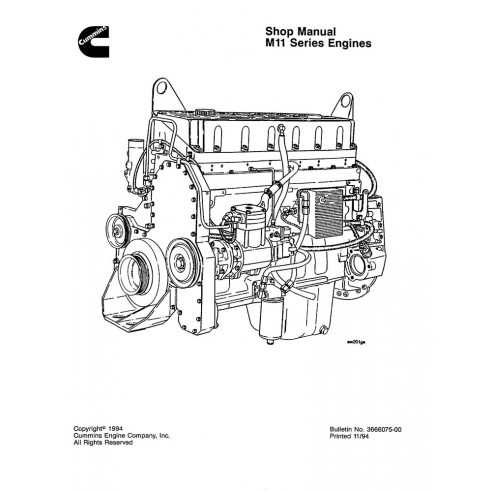 Shop manual for Komatsu M11 Series engine, PDF-Komatsu
