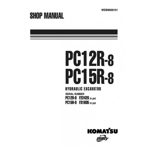 Manual de oficina da escavadeira Komatsu PC12R-8, PC15R-8 - Komatsu manuais