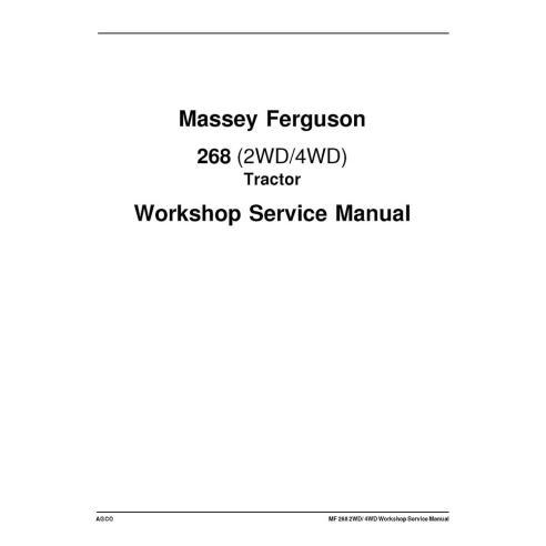 Manuel d'entretien de l'atelier du tracteur Massey Ferguson 268 - Massey Ferguson manuels
