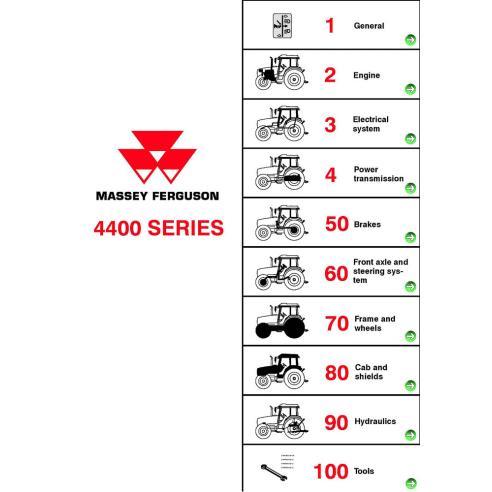 Manuel d'entretien d'atelier de tracteur Massey Ferguson série 4400 - Massey Ferguson manuels
