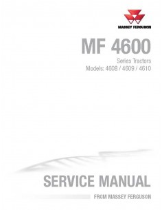 Massey Ferguson 4608 / 4609 / 4610 tractor service manual - Massey Ferguson manuals
