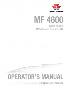 Operator's manual for Massey Ferguson MF 4600 Series tractor, PDF-Massey Ferguson service repair workshop manuals
