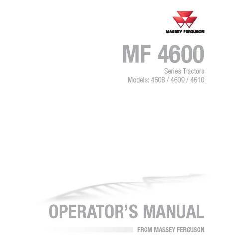 Manual do operador do trator Massey Ferguson 4608/4609/4610 - Massey Ferguson manuais