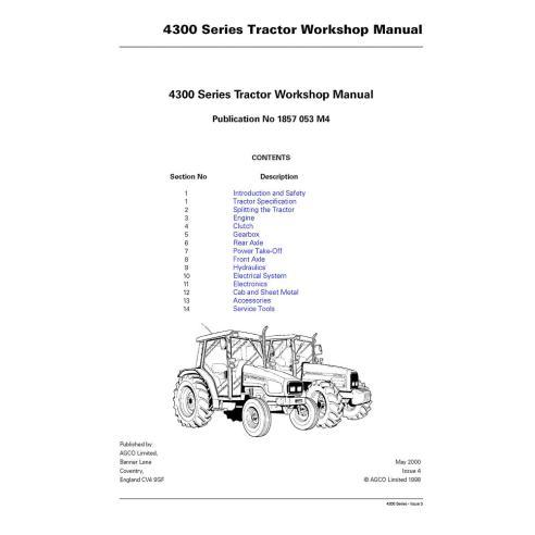Manuel d'atelier du tracteur Massey Ferguson 4215/4220/4225/4235/4245/4255/4260/4270 - Massey Ferguson manuels