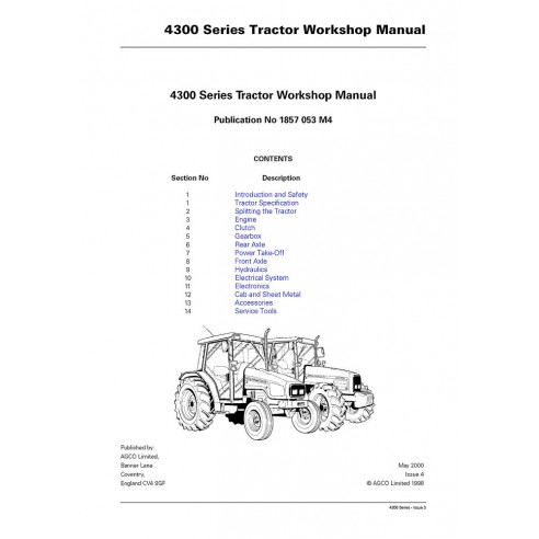 Workshop manual for Massey Ferguson MF 4300 Series tractor, PDF-Massey Ferguson service repair workshop manuals