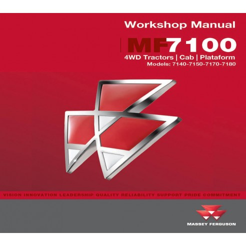 Workshop manual for Massey Ferguson MF 7100 Series tractor, PDF-Massey Ferguson service repair workshop manuals