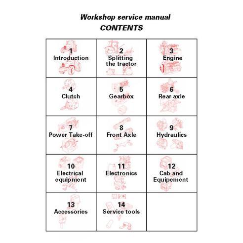 Workshop service manual for Massey Ferguson MF 6200 Series tractor, PDF-Massey Ferguson service repair workshop manuals