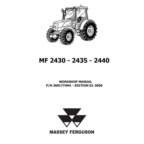 Workshop manual for Massey Ferguson MF 2430, 2435, 2440 tractor, PDF-Massey Ferguson service repair workshop manuals