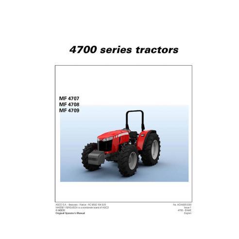 Manuel de l'opérateur du tracteur Massey Ferguson 4707/4708/4709 - Massey Ferguson manuels