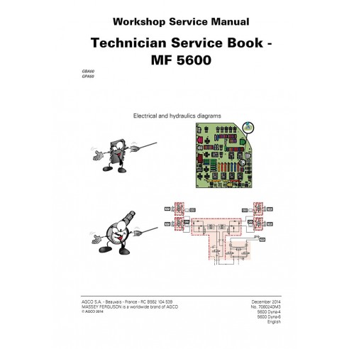 Manual de servicio del taller del tractor Massey Ferguson MF 5600 Series - Massey Ferguson manuales
