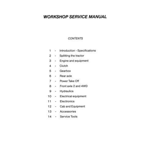 Massey Ferguson MF 6100 Series tractor workshop service manual - Massey Ferguson manuals