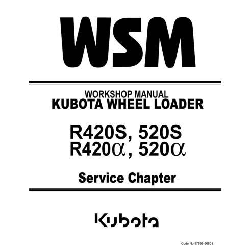 Manual de oficina do carregador Kubota R420S, 520S, R420α, 520α - Kubota manuais