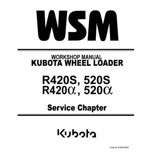 Workshop manual for Kubota R420S, 520S, R420α, 520α loader, PDF-Kubota