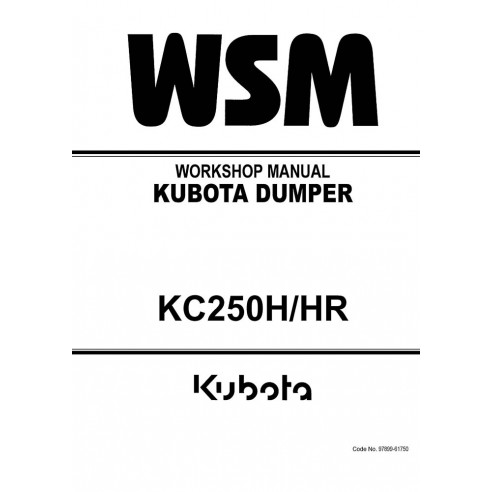 Workshop manual for Kubota KC250H/HR dumper, PDF-Kubota