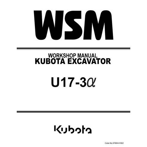 Manual de taller de la excavadora Kubota U17-3α - Kubota manuales
