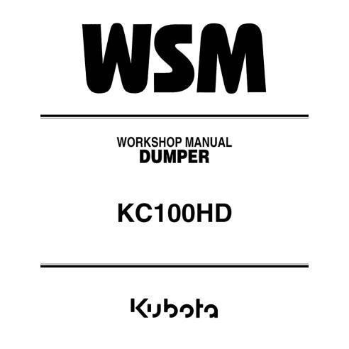 Workshop manual for Kubota KC100HD dumper, PDF-Kubota