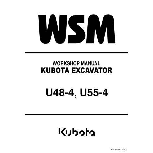 Manual de oficina da escavadeira Kubota U48-4, U55-4 - Kubota manuais