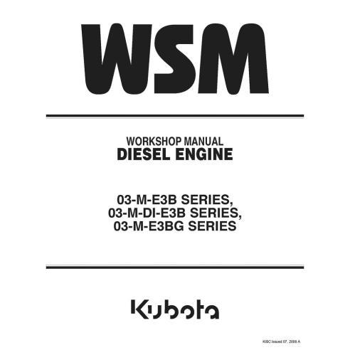 Manual de oficina do motor diesel Kubota 03-M-E3B, 03-M-DI-E3B, 03-M-E3BG SÉRIE - Kubota manuais