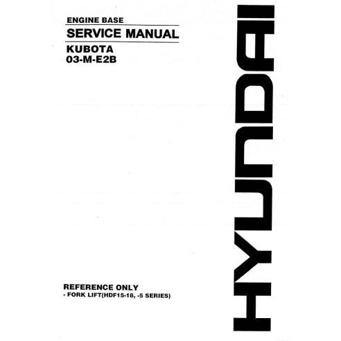Manuel d'entretien du moteur diesel Kubota 03-M-E2B - Kubota manuels