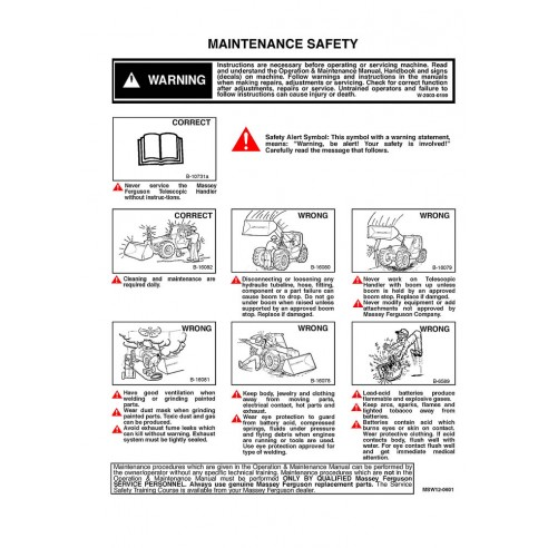 Massey Ferguson MF 8925, MF 8926 telehandlers service manual - Massey Ferguson manuals