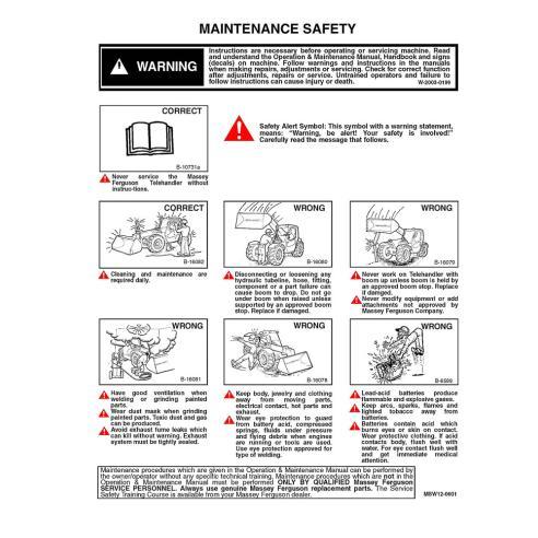Manuel d'entretien des chariots télescopiques Massey Ferguson MF 8947 - Massey Ferguson manuels