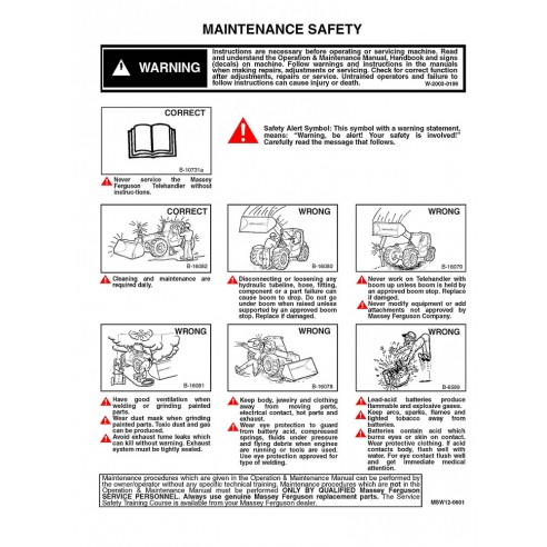 Massey Ferguson MF 8947 telehandlers service manual - Massey Ferguson manuals