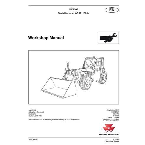 Workshop manual for Massey Ferguson MF 9205 telehandlers, PDF-Massey Ferguson service repair workshop manuals