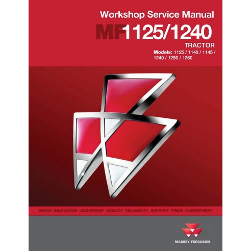 Workshop service manual for Massey Ferguson MF 1125, 1140, 1145, 1240, 1250, 1260 tractor, PDF-Massey Ferguson service repair...